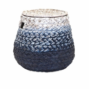 Classy Cascade Woven Water Hyacinth Basket by IMAX