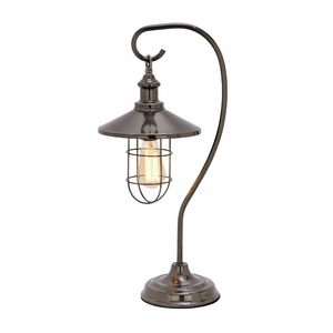 Classy Metal Black Table Lamp with Bulb - 39107 by Benzara