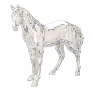 Classy PS Silver Plated Horse - 62490 by Benzara