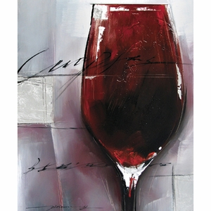 Classy Styled Adorable Cabernet Rouge Artwork by Yosemite Home decor