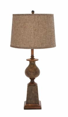 Classy Styled Attractive Polystone Table Lamp - 97371 by Benzara