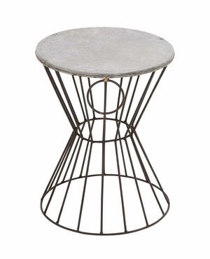 Classy Styled Beautiful Metal Stool - 49155 by Benzara