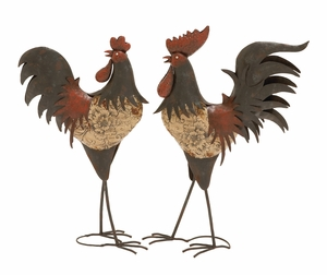 Classy Styleddecorative Metal Rooster - 91788 by Benzara