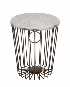 Classy Styled Fascinating Metal Wire Stool - 49138 by Benzara