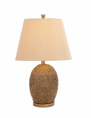 Classy Styled Polystone Metal Table Lamp - 97336 by Benzara
