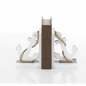 Classy Wood Anchor Bookend Pair - 98863 by Benzara