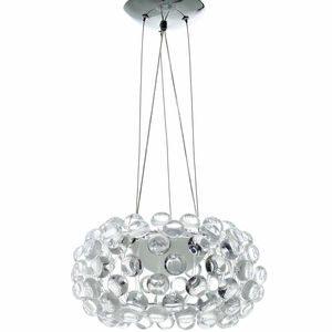 """Clear Halo 14"""" Chandelier"""