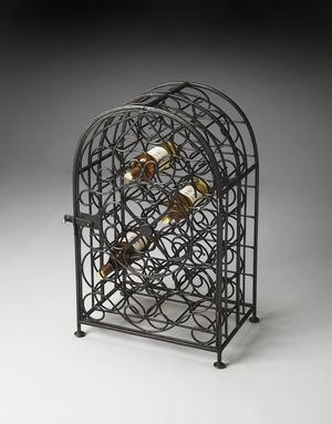 """Clybourn Iron Wine Rack 20""""W by Butler Specialty"""
