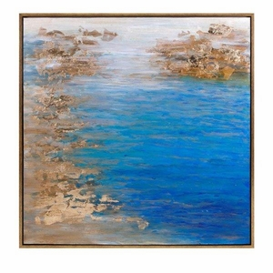 Cobalt Tenor Framed Oil Painting - Gold - Benzara