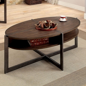 Matilda Contemporary Coffee Table, Dark Oak