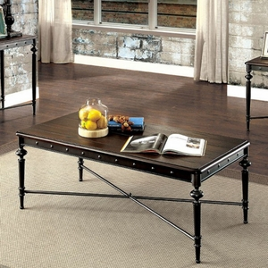 Ballina Industrial Style Coffee Table, Matte Dark Gray