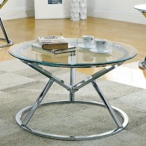 Sterope Contemporary Coffee Table , Chrome