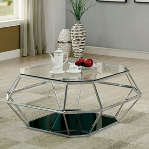 Taya Chrome And Black Coffee Table