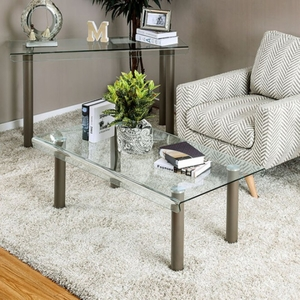 Walkerville II Contemporary Style Coffee Table, Champagne