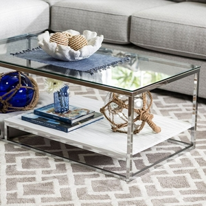 Vendi Contemporary Coffee Table, White