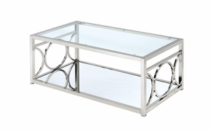 Rylee Contemporary Style Coffee Table, chrome