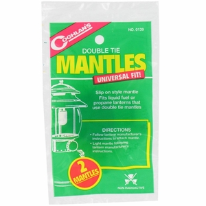 Coghlans Lantern Mantle Replacements, Double Tie, 2 Pack