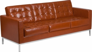 ZB-LACEY-831-2-SOFA-COG-GG Cognac Bonded Leather sofa