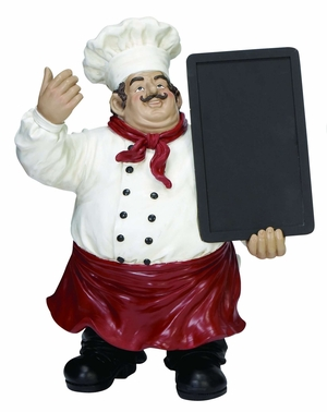 Polystone Chef Chalk Board An Invitingdecor - 35535 by Benzara