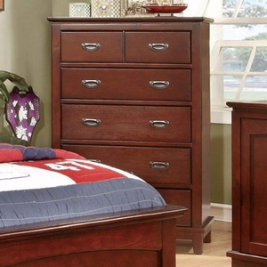Colin Transitional Style Chest With Drawers, Cherry