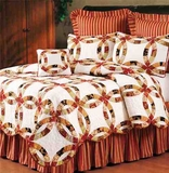 Colleen Wedding Ring Cotton Quilt Luxury Os Twin Bedding Ensembles