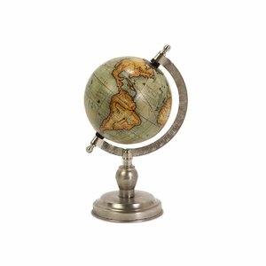 Colombo Small Globe With Nickel Finish Base by IMAX