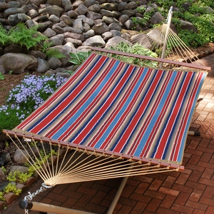 Colonial Stripe 11' Reversible Quilted Hammock by Algoma