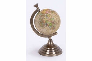 Aluminum Globe For Kids Pursuing Geography - 28322 by Benzara