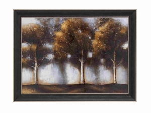 MultiColor Natural Scenery Depicted  Framed Artdecor - 92704 by Benzara
