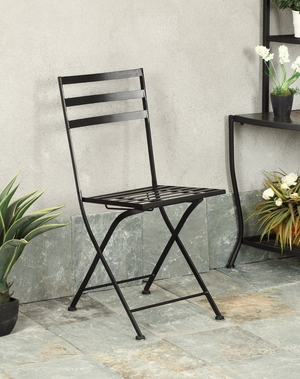 4D Concepts Comfortable and Trendy Black Metallic Chair