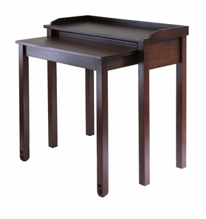 Compact Wooden Kendall Computer Desk with Wheels by Winsome Woods