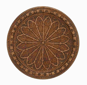 Metal wall decor Smeared with Brown Hues - 50976 by Benzara