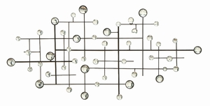 Metal/Glass Bead Wall Decor Designed Exclusively - 13749 by Benzara