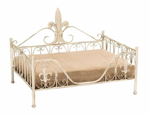 Contemporary Metal Pet Bed with Elegant Curves and Fine Detailing  by Benzara