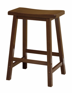 "Winsome Wood Winsome Wood Contemporary Piece of 24"" Saddle Seat Stool"