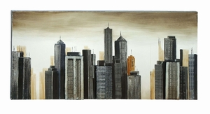 Modern Style Painting Of A Modern City Scape - 53690 by Benzara