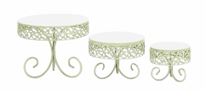 For Stylish PartiesDecorative Cake Stand Set - 69893 by Benzara
