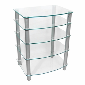 Contemporary Styled Everest Multilevel Component Stand by Walker Edison