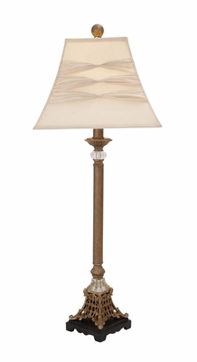 Contemporary Styled Polystone Metal Buffet Lamp - 97363 by Benzara