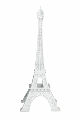 Contemporary Styled White Eiffel Tower by Benzara