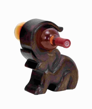Design Wood Wine Holder With Great Finesse - 14420 by Benzara