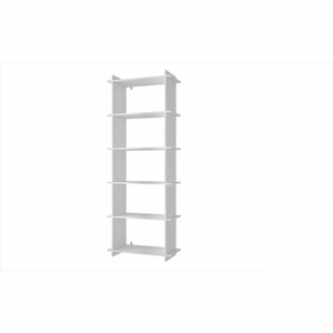 Convenient Gisborne Bookcase 2.0 with 5- Shelves in White