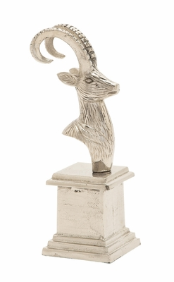 Cool And Distinctive Aluminum Deer Bust - 16486 by Benzara