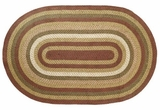 Cool and Distinctive Tea Cabin Jute Rug Oval by VHC Brands
