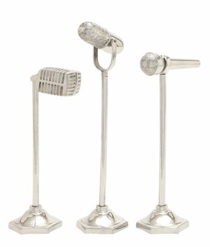 Cool And Stylish Aluminum Microphone 3 Assorted - 22141 by Benzara