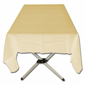Cool Cream Polyester Poplin Tablecloth by TAIB
