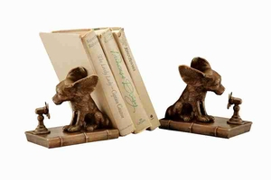 Cool Dog Bookends To Care Books In Distinguished Style Brand SPI-HOME