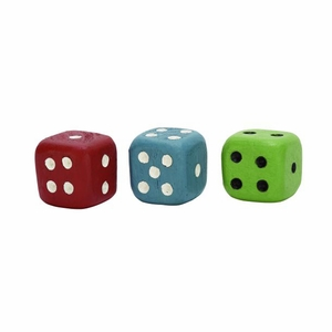 Cool Wood Dice Set of 3 by Benzara