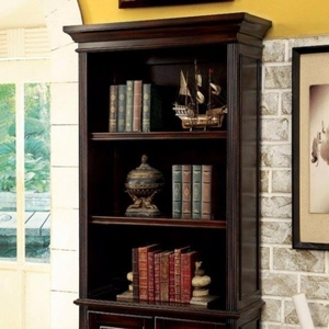 Coolidge Transitional Style, Book Shelf With Multiple Drawers, Cherry