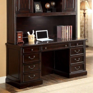 Coolidge Transitional Style Credenza Desk, Cherry
